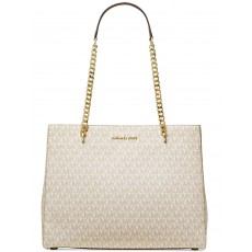 Michael Kors kabelka Ellis large signature shoulder tote vanilla