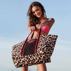 Victoria´s Secret leopard print weekender large tote
