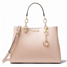 Michael Kors kabelka Cynthia dressy leather soft pink