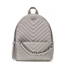 Victoria´s Secret luxe quilt Mini city backpack batoh šedý