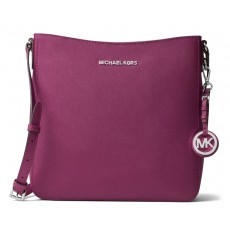 Michael Kors jet set large messenger saffiano leather garnet