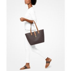 Michael Kors kabelka Karson signature tote brown