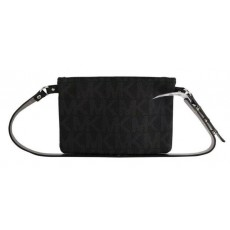Michael Kors ledvinka flat bag signature black silver