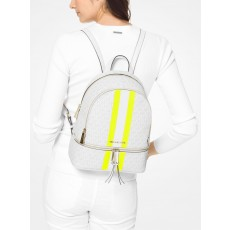 Michael Kors batoh Rhea medium logo stripe white neon yellow
