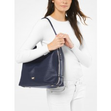 Kabelka s pouzdrem Michael Kors Griffin large leather admiral