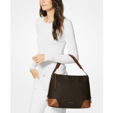Michael Kors Crosby kabelka signature shoulder bag brown