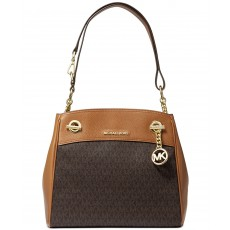 Michael Kors kabelka Legacy shoulder brown acorn
