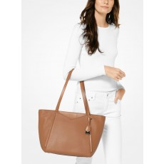 Michael Kors Whitney large leather tote acorn hnědá