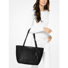 Michael Kors Whitney large leather tote černá/silver