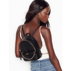 Victoria´s Secret luxe quilt Mini city backpack studded black