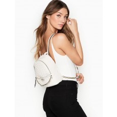 Victoria´s Secret batoh luxe quilt mini city white gold