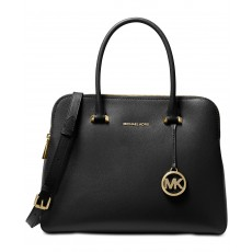 Michael Kors Houston kabelka double zip crossgrain leather černá