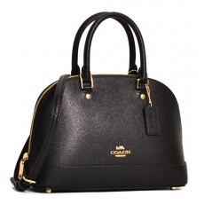 Coach mini kožená kabelka Sierra crossgrain leather black F27591