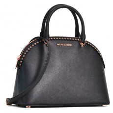 Michael Kors Emmy large leather scalloped black