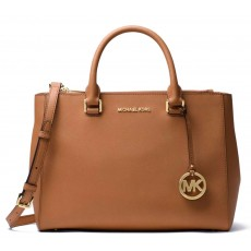 Michael Kors kožená kabelka Kellen medium leather luggage