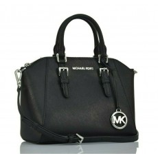 Michael Kors Ciara medium saffiano black/silver