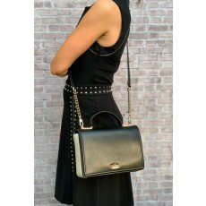 Kate Spade Patterson crossbody colorblock leather black/cement