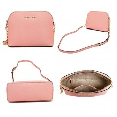 Michael Kors Cindy large dome crossbody soft pink