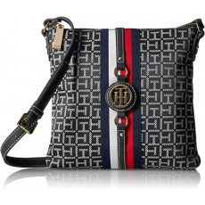 Tommy Hilfiger crossbody Jaden logo black/white