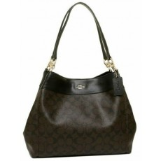 Coach kabelka přes rameno Lexy large signature brown black F27972