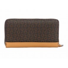 Guess peněženka zip around Muze signature brown