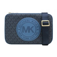 Michael Kors Fulton Sport crossbody signature chambray multi