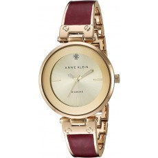 Hodinky Anne Klein Diamond burgundy/gold