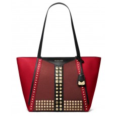 Michael Kors kabelka Whitney large studded saffiano leather red limited edition