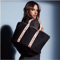 Plátěná taška Victoria´s Secret Carryall black canvas