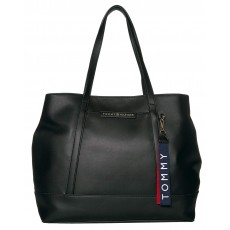 Tommy Hilfiger kabelka Lottie smooth pvc tote black