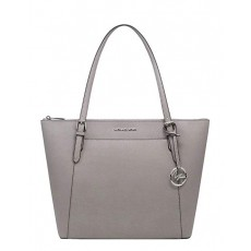 Michael Kors Ciara east west large saffiano pearl gray