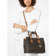 Michael Kors kabelka Camille large logo brown