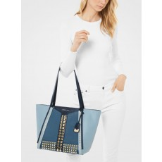 Michael Kors kabelka Whitney large studded saffiano leather blue limited edition