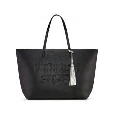 Victoria´s Secret limited edition black tote kabelka with silver tassel