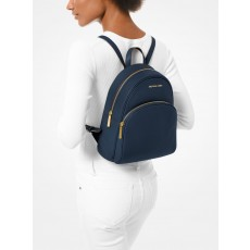 Michael Kors batoh Abbey medium pebbled leather modrý navy