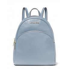 Michael Kors batoh Abbey medium pebbled leather modrý pale blue