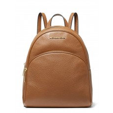 Michael Kors batoh Abbey medium pebbled leather hnědý