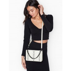 Victoria´s Secret crossbody kabelka studded white gunmetal