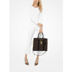 Kabelka Michael Kors Nouveau Hamilton large brown black