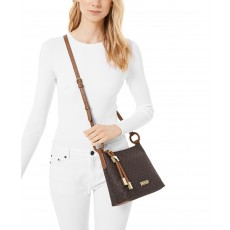 Michael Kors crossbody large signature brown hnědá