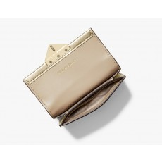 Michael Kors peněženka Cece small leather metallic gold