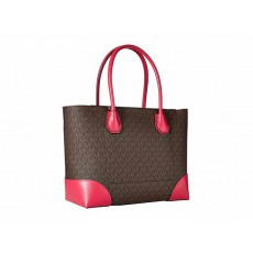 Kabelka Michael Kors Mercer Studio logo brown/pink