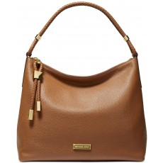 Michael Kors kabelka Lexington large pebbled leather luggage hnědá