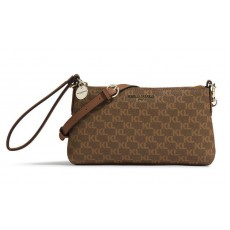Karl Lagerfeld crossbody kabelka Heather monogram brown