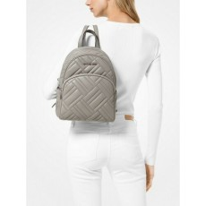 Michael Kors batoh Abbey medium quilted leather šedá