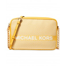 Michael Kors jet set large crossbody vintage žlutá
