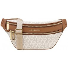 Michael Kors Kenly medium crossbody ledvinka vanilla