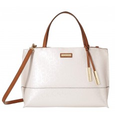 Calvin Klein kabelka signature east west satchel cement