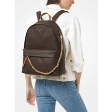 Michael Kors batoh Slater large logo brown