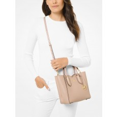 Kabelka Michael Kors Mae small pebbled leather messenger soft pink